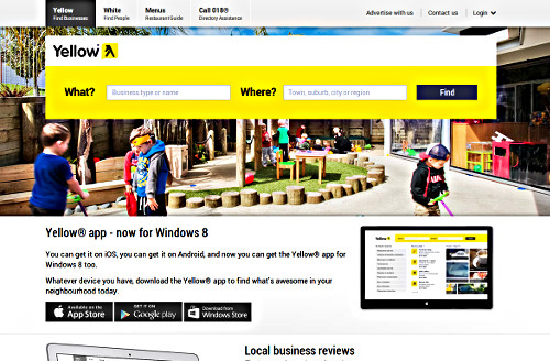 Yellow Homepage